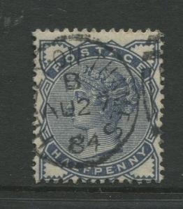 Great Britain  #98  Used 1884 Single 1/2p Stamp
