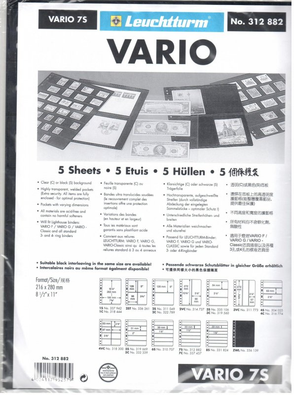 Lighthouse Vario 7S Stock Pages #312882 Ret $5.85
