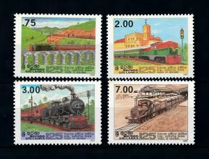 [100629] Sri Lanka 1989 Railway Train Eisenbahn  MNH