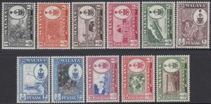 Malaya-Penang 56-66 MNH - Various Topics