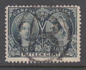 Canada Sc 58 used. 1897 15c Jubilee, great color, fresh, sound.