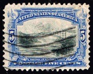 US STAMP #297 1901 5¢ Pan-American Commemorative used XFS SUPERB