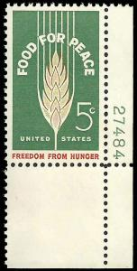 # 1231 MINT NEVER HINGED FOOD FOR PEACE XF+