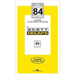 Scott Prinz 84 mm High 240mm Long Self Cutting Stamp Mounts  Clear 10 Strips