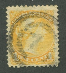 CANADA #35 USED SMALL QUEEN 2-RING NUMERAL CANCEL 7