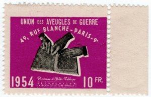 (I.B) France Cinderella : War Blind Fund 10Fr