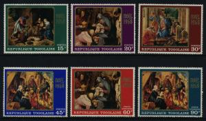 Togo 661-4, C100-1 MNH Christmas, Art, Paintings