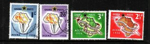 Ghana-Sc #21-4-used set-Independent African States-Maps-1958-