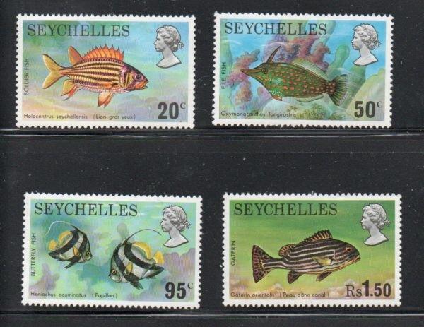 Seychelles Sc 313-16 1974 Fish stamp set mint NH