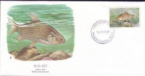 Malawi FDC SC# 544 Yellow Fish L226