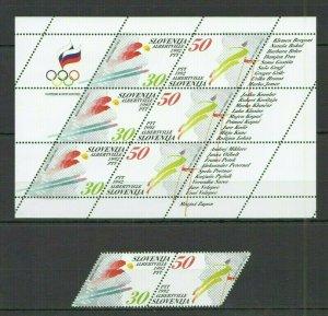 I855 SLOVENIA OLYMPIC GAMES ALBERTVILLE 1992 #6-7+KB MICHEL 31,5 EURO FIX