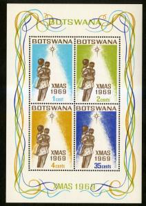 Botswana MNH S/S 57a Christmas 1969