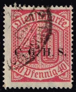 Germany #O7 Official - Numeral; CTO (0.25)