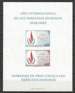 Chile C297  MNH  Human Rights