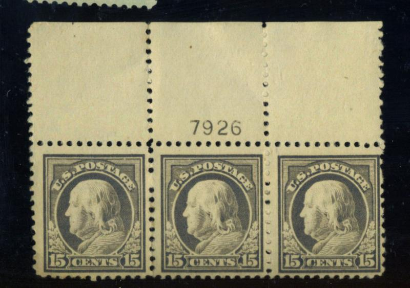 514 MINT PLate strip F-VF OG NH Cat$240