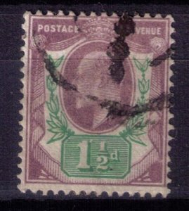 Great Britain Scott #129 Used (Sg 221) KEVII-F-VF