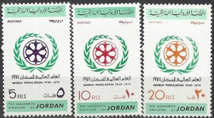 Jordan  798-800  MNH  World Population Year