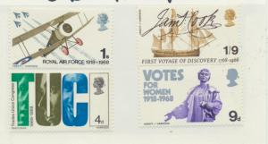 Great Britain Stamps Scott #454 To 457, Mint Never Hinged MNH, British Landsc...