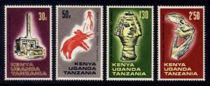 Kenya, Uganda and Tanzania Sc# 176-9 MNH Archaeological Artifacts
