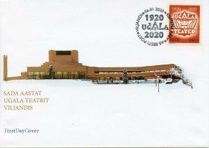 Estonia Performing Arts Stamps 2020 FDC Ugala Theatre Theatres Drama 1v Set