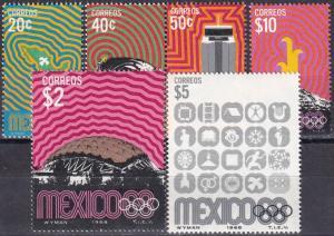 Mexico #996-1001  MNH  CV $23.75 (A19018)