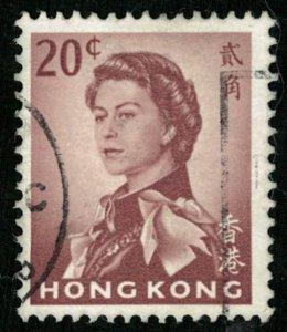 1962, Queen Elizabeth II, Hong Kong, 20 cents (3376-T)