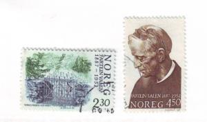 Norway Sc913-4 1987 Valen composer stamps used