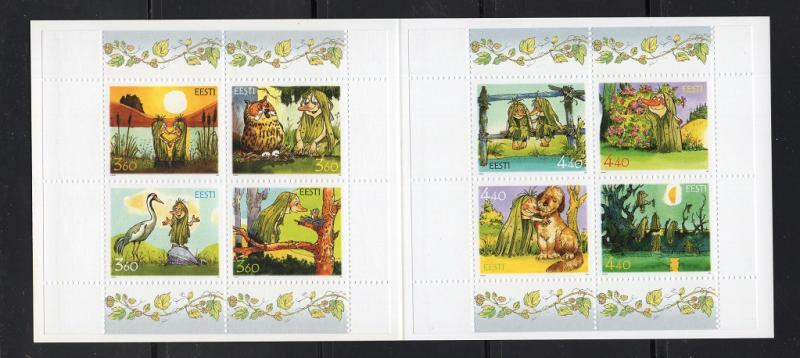 Estonia  #418-419  2001  MNH booklet  nature fund  illustrations from Pokuland