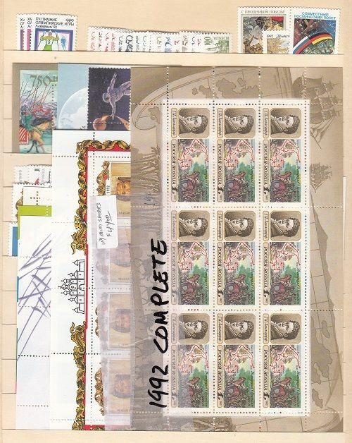 Russia Scott 6056-6108,B185 Mint NH + 13 mini-sheets - see description