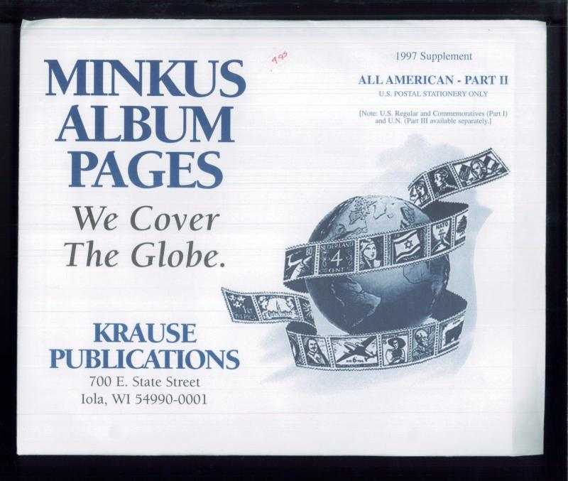 1997 All American Part 2 Minkus Stamp Album Supplement Pages