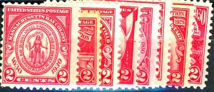 U.S. #657, 680-683, 688-690 MINT MIXED CONDITION