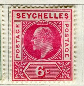SEYCHELLES; 1906 early Ed VII issue fine Mint hinged 6c. value