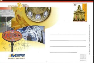 PS-176 ARGENTINA 2006 P STATIONARY FLORES ZONE,CHURCH ANV UNUSED