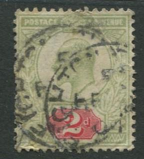 Great Britain - Scott 130 - KEVII Definitive -1902 - Used - Single 2p Stamp