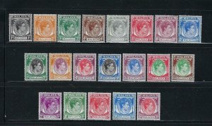 MALAYA MALACCA SCOTT #3-17/22-26 1949-52 GEORGE VI SET (20 STAMPS)- MINT LH/NH