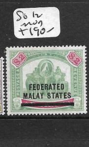 MALAYA FMS  (P3012B) ELEPHANT $2.00 SG 12  MOG
