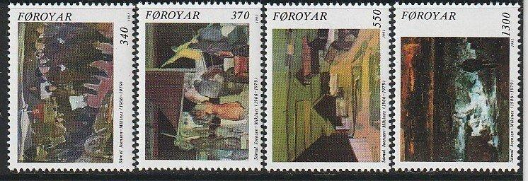 1991 Faroe Islands - Sc 228-31 - MNH VF - 4 single - Samal Joensen-Milkines