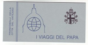 Z770 JLstamps 1984-5 vatican city mnh complete bklt #743a papal journeys