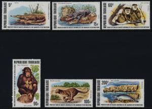Togo 960-1, C317-20 MNH - Crocodile, Chimpanzee, Leopard, Manatee