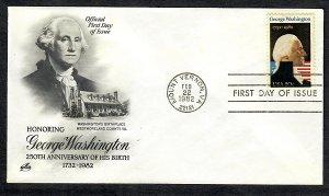 1952 George Washington Unaddressed ArtCraft FDC