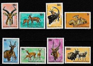 Rwanda 1975 Scott 614-621 Antelopes MNH