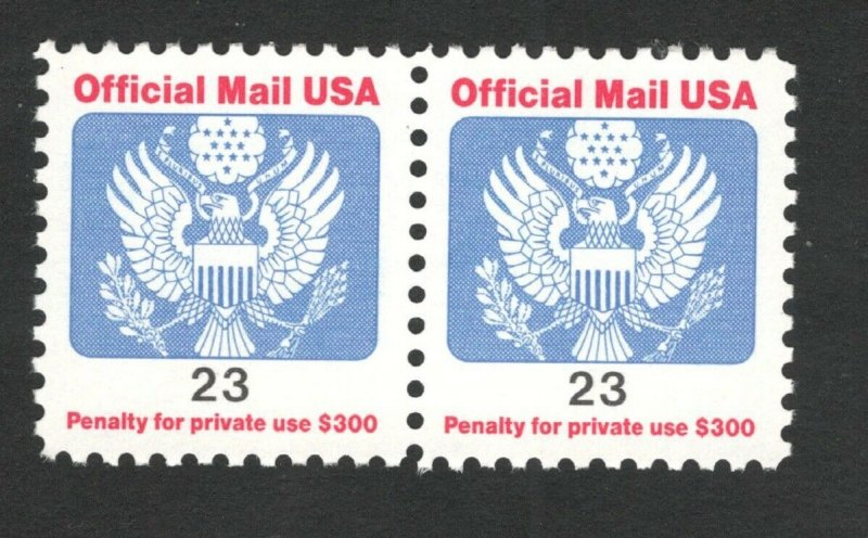 O148 Official Mail 23cent Pair Mint/nh FREE SHIPPING