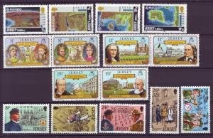 J14133 JLstamps 1982 great britain jersey year sets mnh #285-99 designs