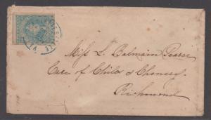 **CSA Cover, SC# 2 Paterson, Charlottesville, VA 12/31/1862, Stone Y