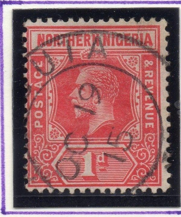 Northern Nigeria 1912 Early Issue Fine Used 1d. 055594