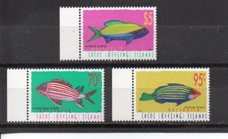 Cocos Islands 327-329 MNH