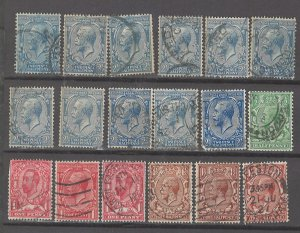 COLLECTION LOT # 3055 GB 18 STAMPS 1911+ CV+$50 CLEARANCE