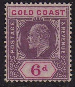 Gold Coast 1908 KEVII Sc 54 MH