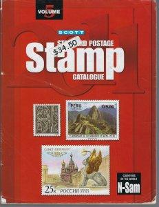 2011 SCOTT STANDARD POSTAGE STAMP CATALOGUE-VOLUME 5 (COUNTRIES N-SAM)- USED (