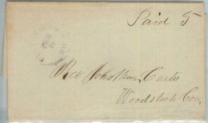 72339  - UNITED STATES USA - PREPHILATELIC Cover: PITTSFIELD, NH 1844 - 5 PAID